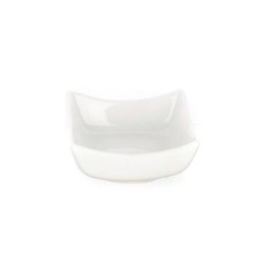 Ultraform Porselen Köşeli Kare Kase 9.5 Cm Beyaz